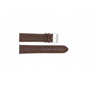 Horlogeband 305.02.18 XL Leder Bruin 18mm + bruin stiksel