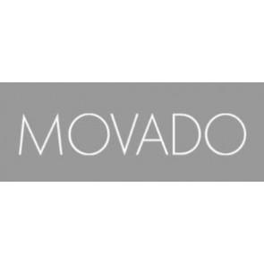 Movado horlogeband 81-A1-840 LM-43 Leder Rood 15mm + standaard stiksel