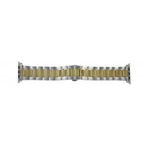 Apple (vervangend) horlogeband LS-AB-106 (Bi-color) Staal Goud (Doublé) 42mm