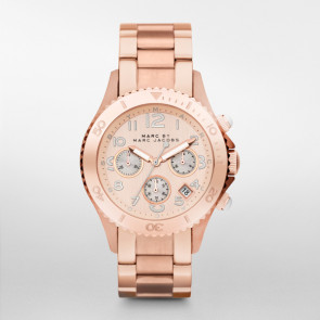 Horlogeband Marc by Marc Jacobs MBM3156 Staal Rosé