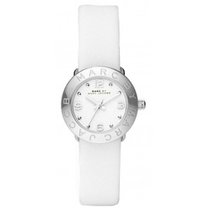 Horlogeband Marc by Marc Jacobs MBM8553 Leder Wit 15mm