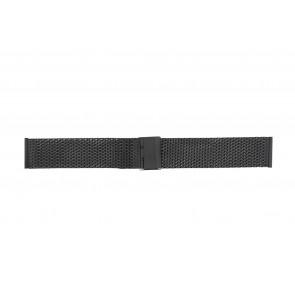 WoW horlogeband MESH24.01 Staal Zwart 24mm