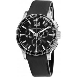 Horlogeband Maurice Lacroix MI1098 / AQ60872 / ML640-000020 Silicoon Zwart 18mm