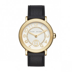 Horlogeband Marc by Marc Jacobs MJ1615 Leder Zwart 18mm