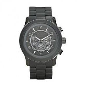 Horlogeband Michael Kors MK8148 Staal/Silicoon Antracietgrijs 24mm