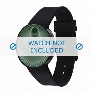 Movado horlogeband 3680041 Silicoon Zwart 22mm