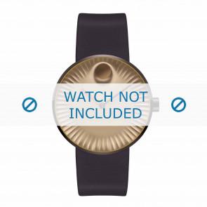Movado horlogeband 3680043 Silicoon Donkerbruin 22mm