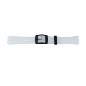 Horlogeband WoW P51.14 Kunststof/Plastic Transparant 17mm