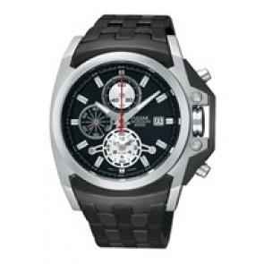 Horlogeband Pulsar YM62-X204-PF3843X1 Staal Zwart