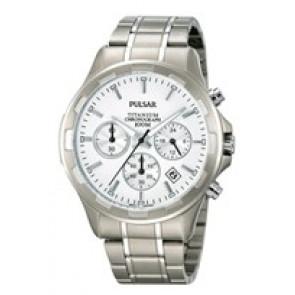 Horlogeband Pulsar VD53-X064 / PT3211X1 Titanium Grijs 20mm