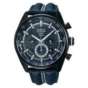 Horlogeband Pulsar VS75-X004 / PX5043X1 Nylon/perlon Blauw 24mm