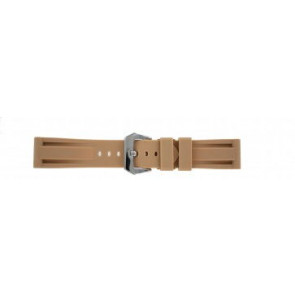 Panerai style horlogeband siliconen beige 24mm