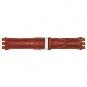 Horlogeband Universeel 247.07M Leder Rood 19mm