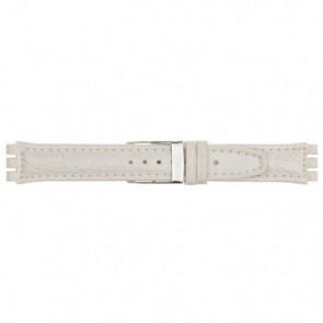 Horlogeband Universeel 247.20M Leder Wit 19mm