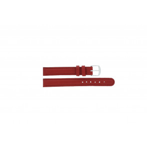 Q&Q horlogeband QQ12LDRGS Leder Rood 12mm + rood stiksel
