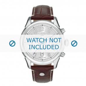 Roamer horlogeband 540951-41-16-05 Leder Bruin 22mm + wit stiksel