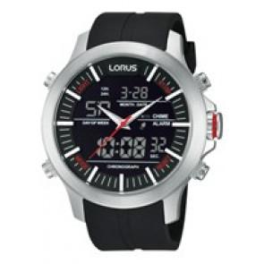 Horlogeband Lorus Z021-X002-RW607AX9 Rubber Zwart 21mm