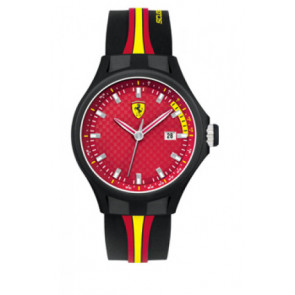 Horlogeband Ferrari SF-01-1-47-0003 / SF689300008 / 0830009 Silicoon Zwart 22mm