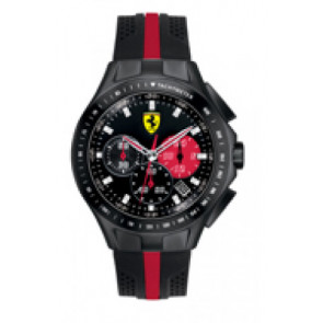 Horlogeband Ferrari SF-03-1-34-0015 / 689300022 Silicoon Zwart 22mm