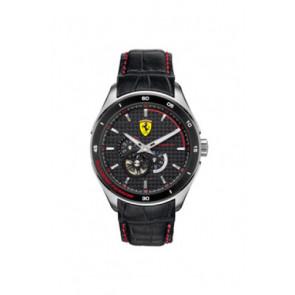 Horlogeband Ferrari SF-11-1-34-0043 / 689300062 Leder Zwart