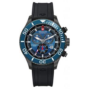Horlogeband Swiss Military Hanowa 06-4226.30.003-SM34223AEU Rubber Zwart