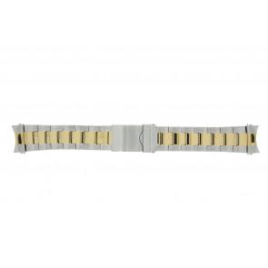 Prisma horlogeband STBI22 Staal Bi-Color 22mm