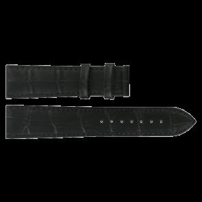 Horlogeband Tissot T0636101605800 / T610031945 XL Leder Zwart 20mm