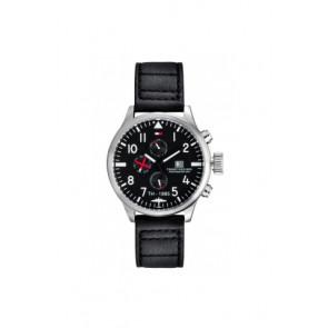 Horlogeband Tommy Hilfiger TH-102-1-14-0878 Leder Zwart 20mm