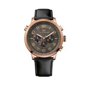 Horlogeband Tommy Hilfiger TH.145.1.34.1051 Leder Zwart