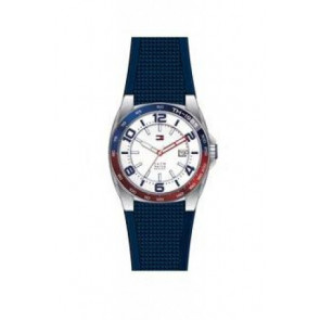 Horlogeband Tommy Hilfiger TH1790885 Rubber Blauw 21mm