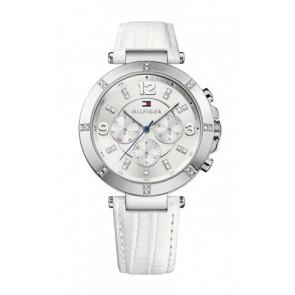 Horlogeband Tommy Hilfiger TH-246-3-14-1852S Leder Wit