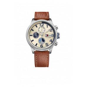 Horlogeband Tommy Hilfiger TH-102-1-14-2038 / TH679301952 Leder Cognac 22mm