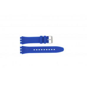 Horlogeband Universeel S07 Silicoon Blauw 19mm