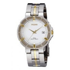 Pulsar horlogeband V732-0330  Roestvrij staal (RVS) Bi-Color 8mm