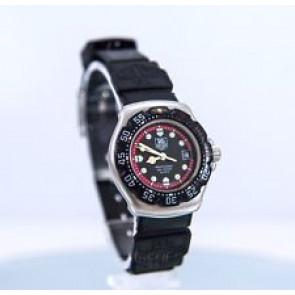 Horlogeband Tag Heuer WA1411 Rubber Zwart 15mm