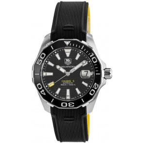 Horlogeband Tag Heuer WAY211A / FT6068 Rubber Zwart 21mm