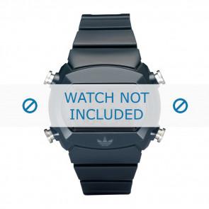 Adidas horlogeband ADH6065 Silicoon Blauw 22mm