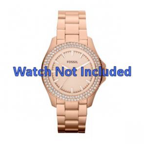 Horlogeband Fossil AM4454 Staal Rosé 18mm