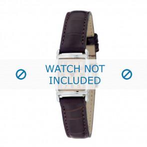 Armani horlogeband AR-0205 Croco leder Donkerbruin 14mm