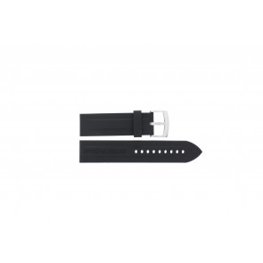 Horlogeband Armani AR0527 Vanille / AR5826 Silicoon Zwart 23mm