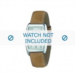 Armani horlogeband AR-0901 Leder Lichtbruin 19mm