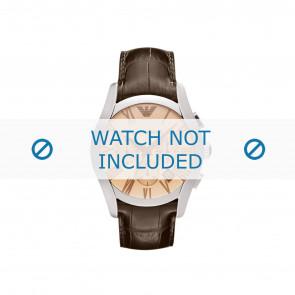 Horlogeband Armani AR1634 Leder Bruin 22mm
