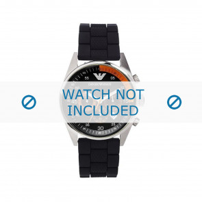 Armani horlogeband AR5878 Silicoon Zwart 24mm
