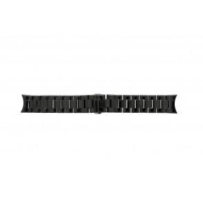 Horlogeband Armani AR1400 / AR1401 Keramiek Zwart 22mm