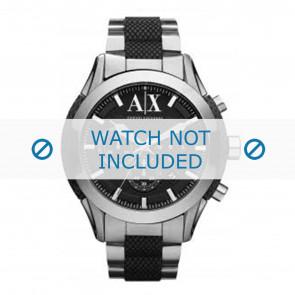 Armani horlogeband AX1214 Staal Zilver