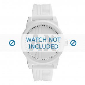 Armani horlogeband AX1450 Rubber Wit 22mm