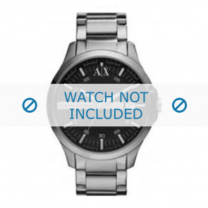 Armani horlogeband AX2103 Staal Antracietgrijs