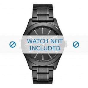 Armani horlogeband AX2322 Staal Zwart