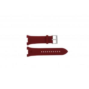 Armani horlogeband AX-1040 Silicoon Rood 14mm