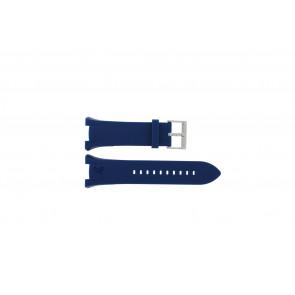 Horlogeband Armani AX1041 Silicoon Blauw 14mm